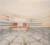 Viktor and Leonid Vesnin Palace of the Soviets Moscow, USSR (1932-1933) Fourth round of the competition Interior view