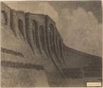 Hans Poelzig (1869-1936) Talsperre, Klingenberg (1908-1914) Ansicht der Staumauer von unten Reprofotografie Foto auf Karton 52,50 x 61,00 cm Inv.-Nr. 2584