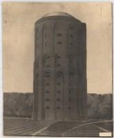 Hans Poelzig (1869-1936) Wasserturm Winterhude, Hamburg (1908) Perspektivische Ansicht (von Inv.Nr. 2566) Reprofotografie Foto auf Karton 64,00 x 52,50 cm Inv.-Nr. 2567