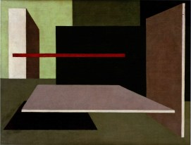 Peter Keler, Wall-painting scheme for Laszlo Moholy-Nagy's studio, Weimar 1925, Gouache on paper, 30 x 50.1cm