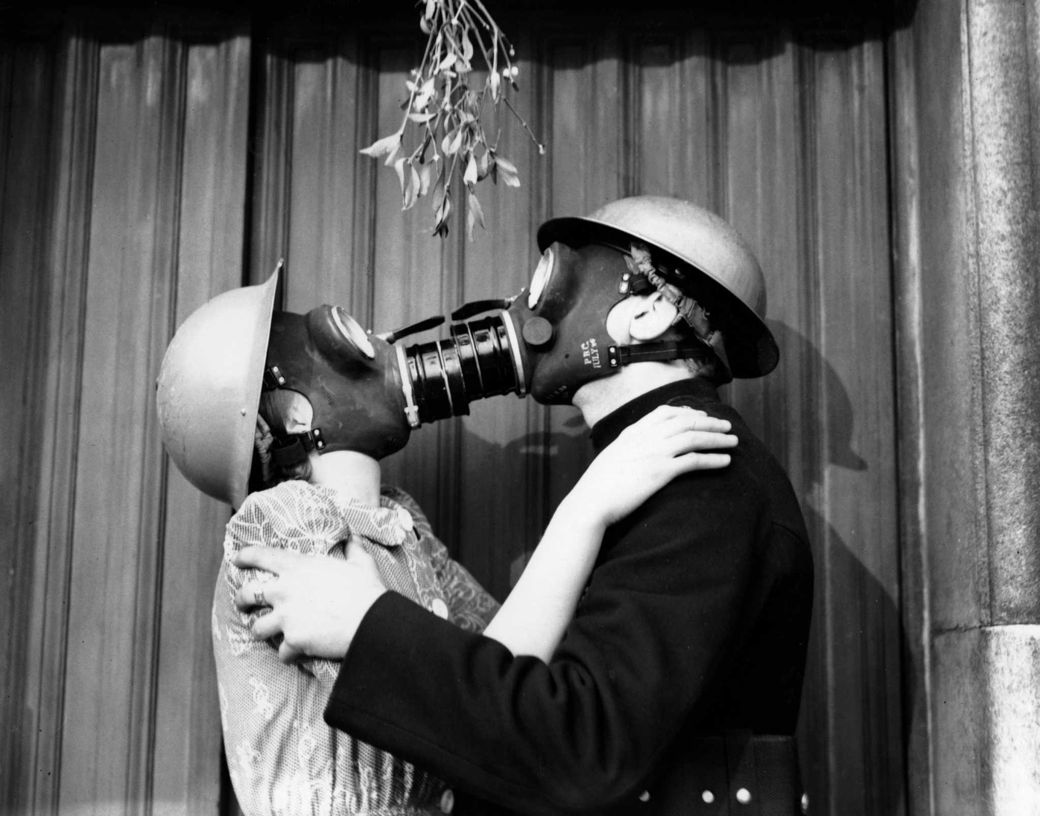 Gas Mask Kiss