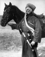 Cossack in a gas mask, November 1938