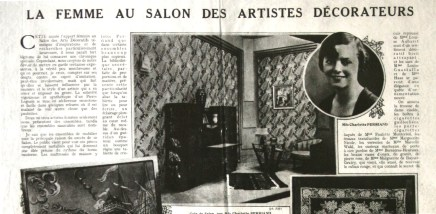 La femme au Salon des Artistes Décorateurs, article de Gaston Derys, 1926