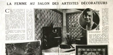 La femme au Salon des Artistes Décorateurs, article de Gaston Derys, 1926