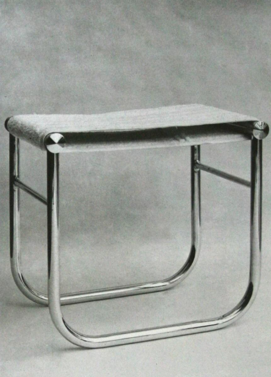 Si ge de salle de bains assise d montable en tissu ponge edition thonet 1930 the charnel house - Salle de bain charlotte perriand ...