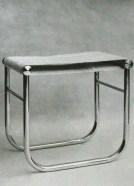 Siège de salle de bains, assise démontable en tissu éponge, Edition Thonet, 1930