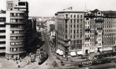 Перспектива Орликова переулка от Садовой-Спасской 1936
