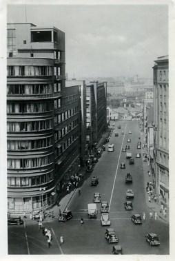 Перспектива Орликова переулка от Садовой-Спасской 1947