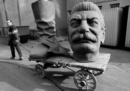 Dismantled statue of Stalin in Budapest, Hungary ca. 1990