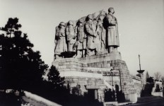 Stalin's Monument was a massive granite statue honoring Joseph Stalin in Prague, built 1955 destroyed 1962