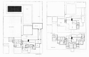 C. van Eesteren, 1923. Hotel particu lier. a. maquette, uitgevoerd door Gerrit Rietveld b. plattegrond begane grond c. plattegrond eerste verdieping. a. model, executed by Gerrit Rietveld b. plan of ground floor c. plan of lirst floor