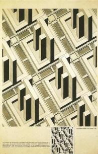 Cornelis van Eesteren Schematic representation of the optimal relationship between skyscrapers and traffic, 1926
