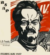 German poster of Trotsky, shortly after the foundation of the Fourth International (February 1937)