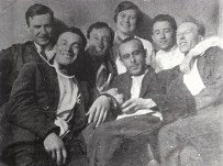 Ivan Leonidov and students of VKhUTEIN, 1929