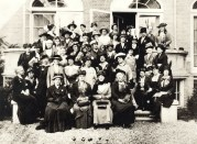 Jane with other delegates to First International Congress of Women, The Hague, 1915