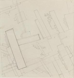 Kazimir Malevich, 1878-1935 Suprematist composition 'Planit', 1919 22 x 18 cm. (8 3:4 x 7 in.)(paper size); 13 x 12.5 cm. (5 1:8 x 4 7:8 in.)