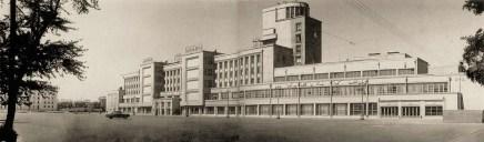Kirov Palace of Culture on Vasileostrovskii island, designed by Noi Trotskii and S.N. Kazak (1931-1937), photo 1967