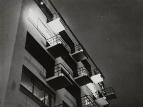 Lyonel Feininger, night-time photo of Walter Gropius' Bauhaus Dessau building (3.26.1929)