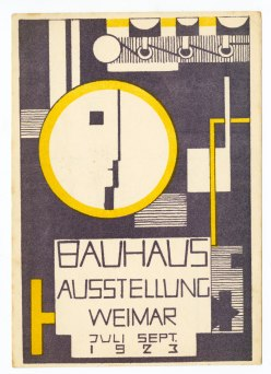 Rudolf Baschant Austrian (Salzburg, Austria 1897 - 1955 Linz, Austria) Bauhaus Exhibition Postcard No. 10, 1923 Print German, 20th century Photolithograph printed in purple and yellow inks on white paper 15.2 x 10.7 cm (6 x 4 3:16 in.)