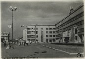 Kirovskii district soviet in Leningrad, designed by Noi Trotskii (1930-1935), photo 1935