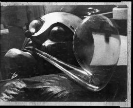 T. Lux Feininger American (Berlin, Germany 1910 - 2011 Cambridge, Massachusetts) Copy Print- Bauhaus Theater Mask Designed by T. Lux Feininger, c. 1928 (printed 1949) Photograph German, 20th century Gelatin silver print image- 18 x 23.7 cm