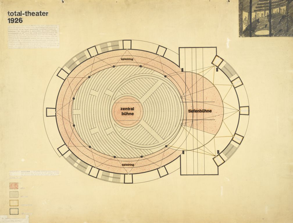 Total Theater for Erwin Piscator, Berlin, 1927a