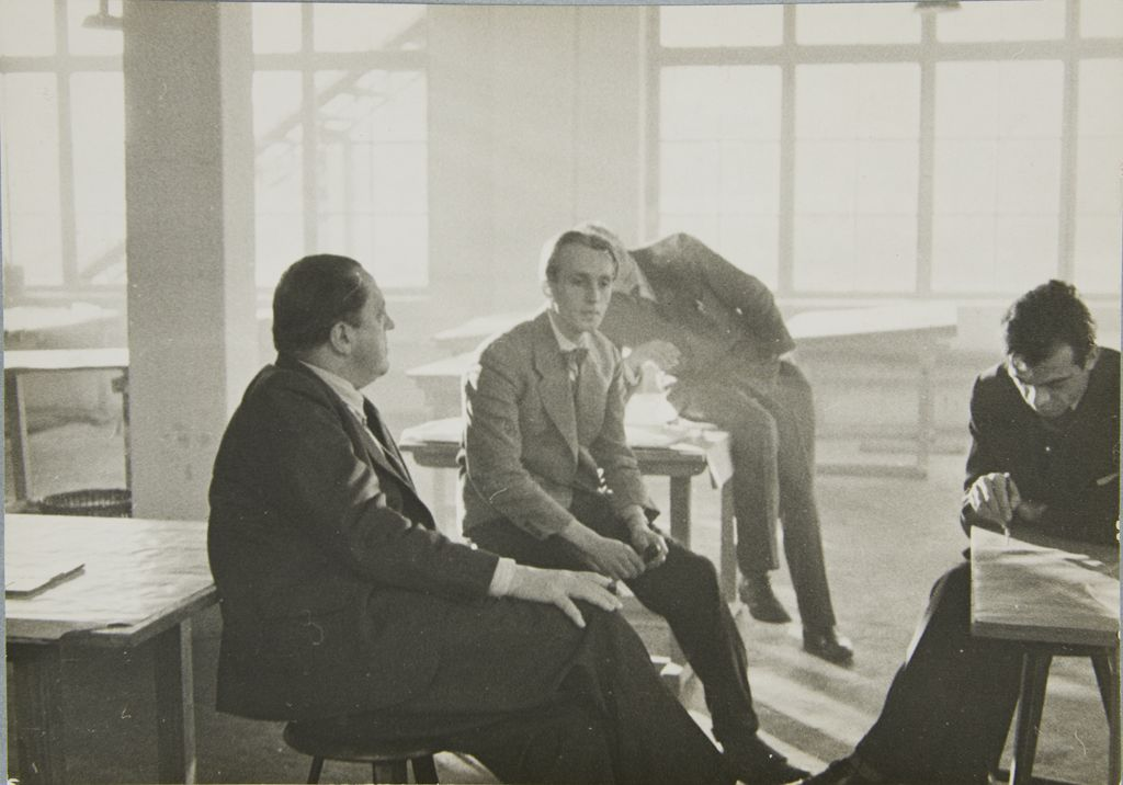 Unidentified Artist Ludwig Mies van der Rohe with Students at the Bauhaus, Berlin, 1933 Photograph German, 20th century Gelatin silver print image- 11.9 x 16.9 cm (4 11:16 x 6 5:8 in.)
