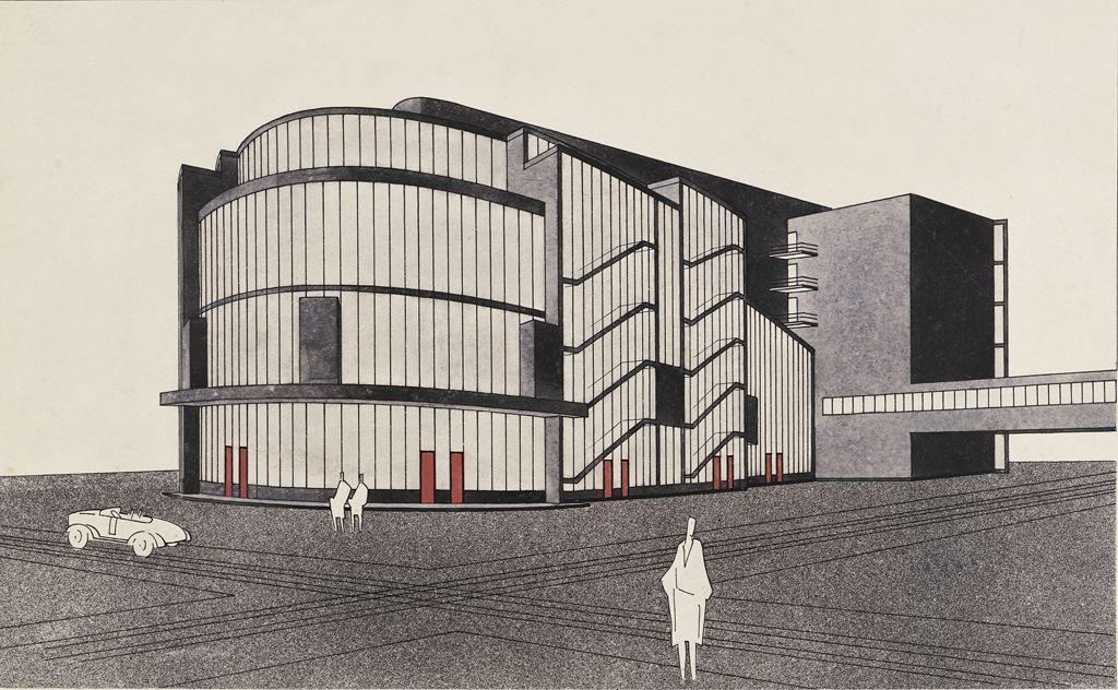 Walter Gropius German (Berlin, Germany 1883 - 1969 Boston, Mass., USA) Total Theater for Erwin Piscator, Berlin, 1927- Perspective, 1927 Drawing