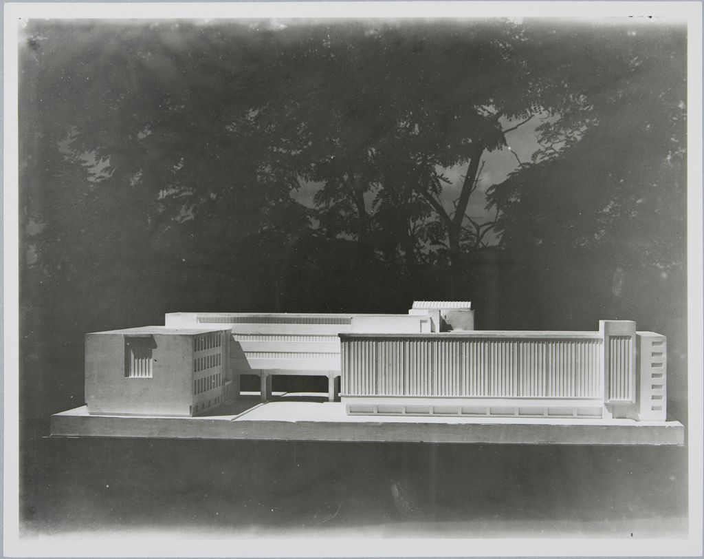 Walter Gropius Unidentified Artist Bauhaus Building, Dessau, 1925-1926- Model, c. 1925-1926 Photograph German, 20th century Gelatin silver print image- 17.5 x 22.3 cm (6 7:8 x 8 3:4 in.) sheet- 18.5 x 23.3 cm