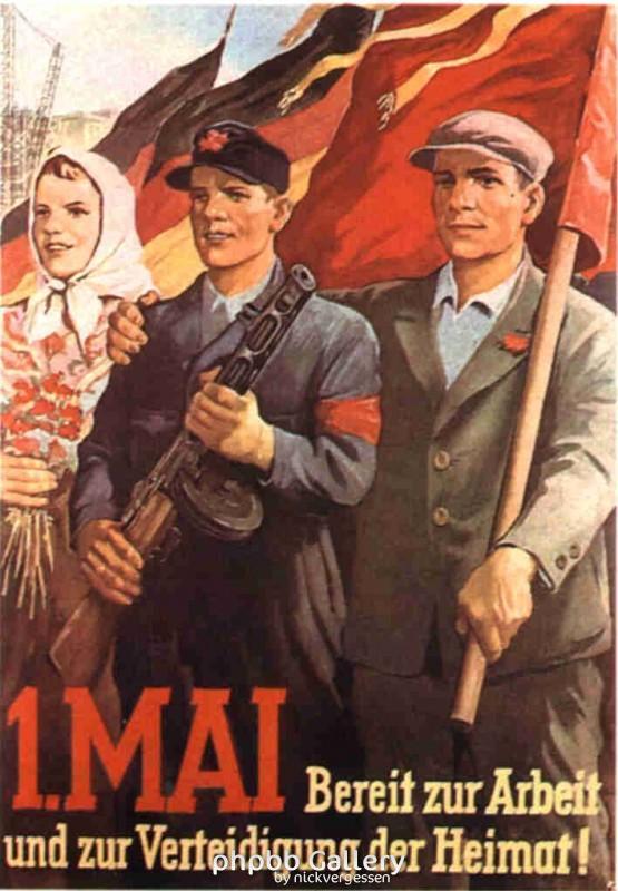 1.Mai Plakate 1900 bis 1989 !f