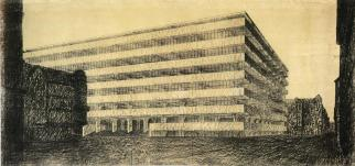 concrete_office_building_project Mies 1923