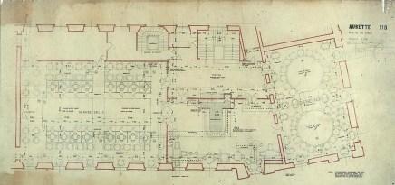 Plattegrond van eerste verdieping, Aubette