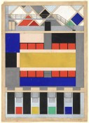 Theo van Doesburg, colour scheme for the cinema-dancehall in the Café Aubette, preliminary version, 1928. The Museum of Modern Art, New York.