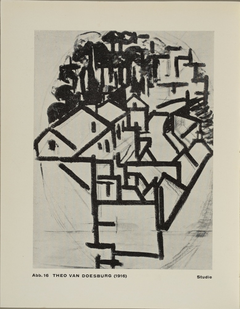 Theo van Doesburg, Grundbegriffe der neuen gestaltenden Kunst. Bd. 6, München 1925%0ATheo van Doesburg, Grundbegriffe der neuen gestaltenden Kunst. Bd. 6, München 1925-54