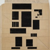 Top- Wall of Café-Restaurant Aubette, Strasbourg, 1926-1928. NAI Collection : DOES AB 5209. Bottom- Th. van Doesburg.