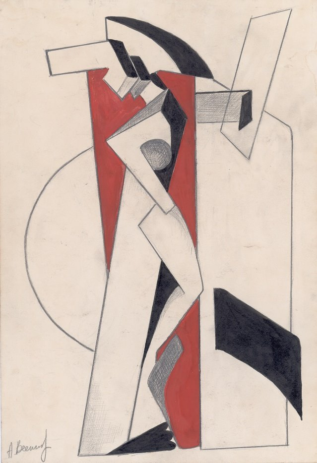 Alexander Vesnin Graphite, ink and gouache on paper (25.5 x 18.5 cm) Omsk, Private Collection
