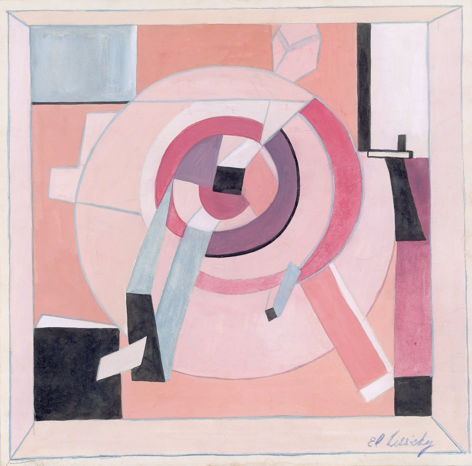 El Lissitzky Gouache, ink and colored pencil on paper (29.5 x 30 cm) Omsk, Private Collection