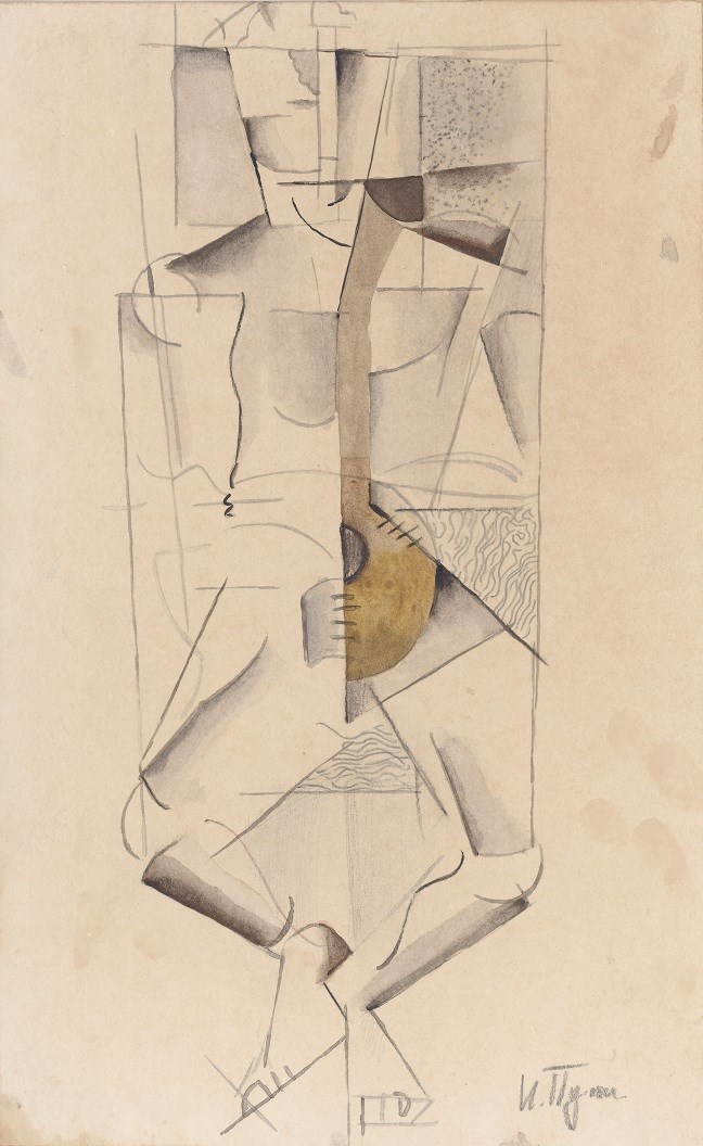 Ivan Puni Pencil and gouache on paper (29 x 18 cm) Omsk, Private Collection