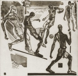 Football, 1923 by Aleksandr Deyneka