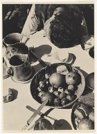 Lucia at the breakfast table, 1926 gelatin silver print, 24.3 x 17.8 cm