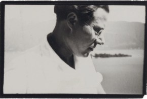 LUCIA MOHOLY (1894-1989) László Moholy-Nagy, Rapallo, c. 1940 gelatin silver print 1 7_8 x 2 7_8in. (4.7 x 7.3cm.)