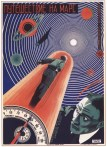 Soviet movie poster Trip to Mars, 1925