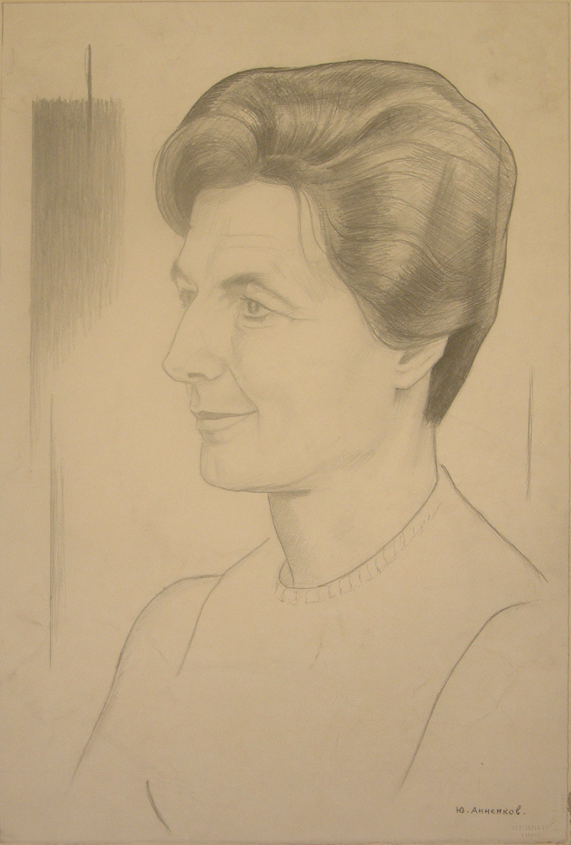 Annenkov, Iurii Pavlovich (Georges) · Portrait of Tatiana Rannit