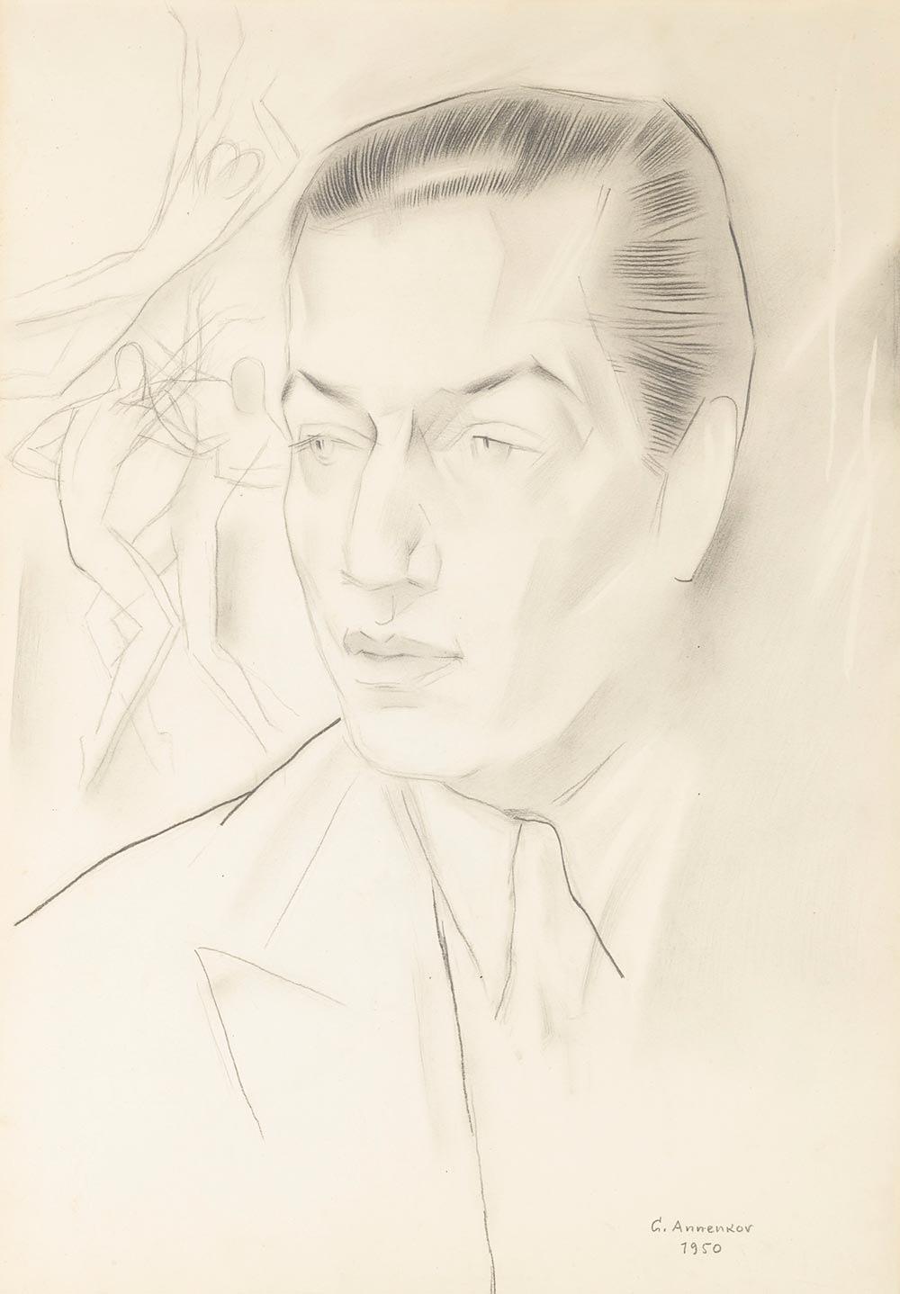 Портрет Сержа Лифаря - Анненков Ю. П. -- Артпоиск - русские художники