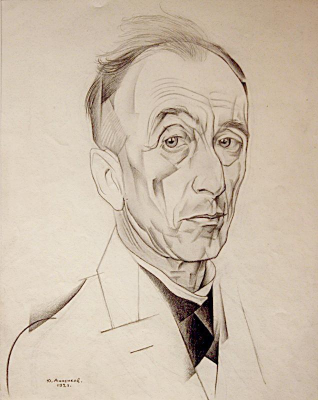 Юрий Анненков %22Портрет литературного критика и искусствоведа А.Л.Волынского%22 1921