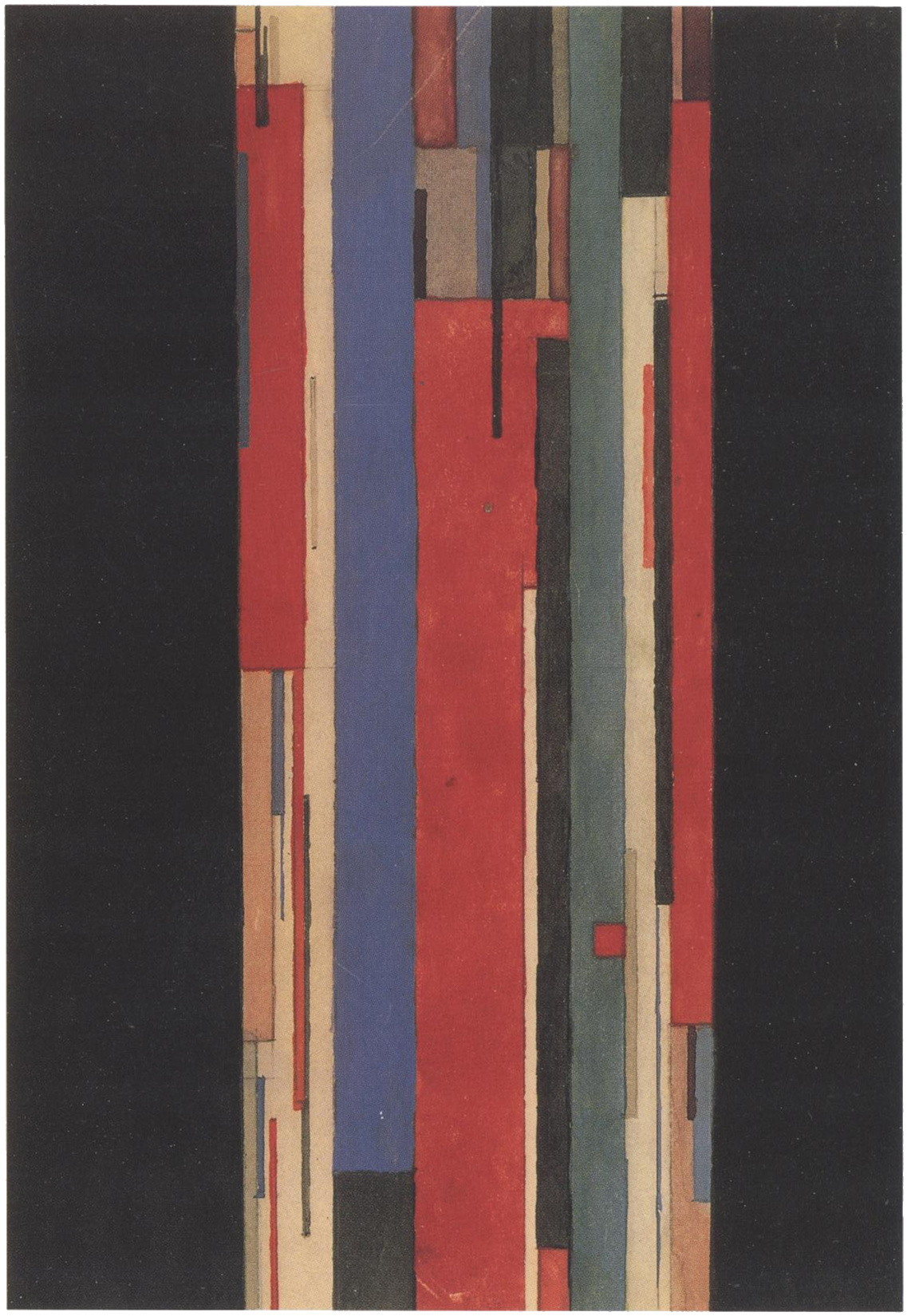 Il'ia Chashnik, color lines in vertical motion, 1923-1925, Watercolor