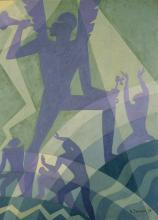 Aaron Douglas. %22Judgment Day%22. 1939. oil on canvas