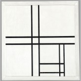 PIET MONDRIAN 1872 - 1944 COMPOSITION IN BLACK AND WHITE, WITH DOUBLE LINES Signed with the initials PM and dated 34 (bottom center); signed Piet Mondrian on the stretcher Oil on canvas 23 3:8 by 23 3:4 in. 59.3 by 60.3 cm 1934.