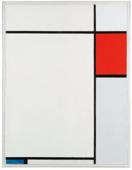 PIET MONDRIAN, COMPOSITION WITH RED, BLUE, AND GREY oil on canvas canvas, 66 by 50cm