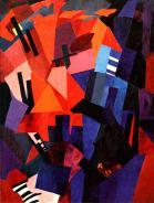 Aleksandra Ekster, Cityscape (Composition), ca. 1916 Oil on canvas, 117 x 88 cm
